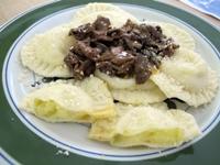 Ravioli med potatis och rökt scamorza