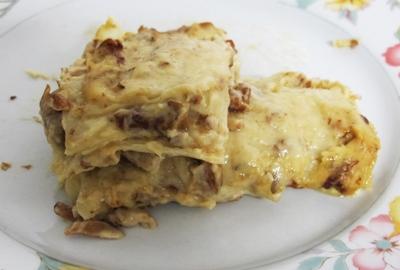 Lasagne med svamp
