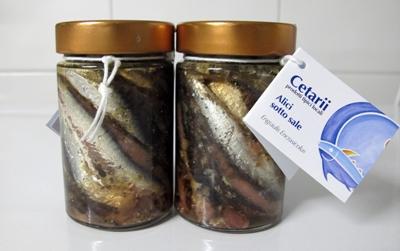 Sardeller med salt - glasburk 235g
