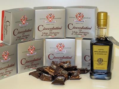 Choklad med balsamvinäger från Modena IGP