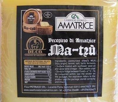 Pecorino från Amatrice