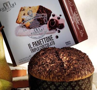 Panettone med trippel choklad - 500g